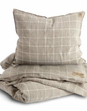 Bettbezug Leinen CHECK Lovely Linen