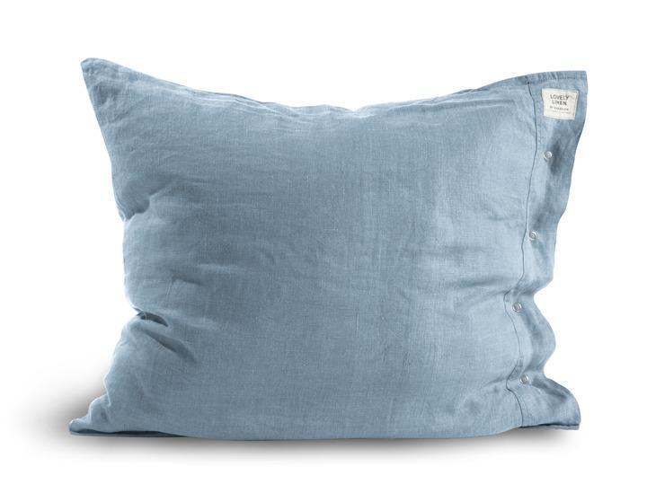 100/% Leinen Kissenbezug 80x80 cm Weiß Knopfverschluss stonewashed Flax Neu