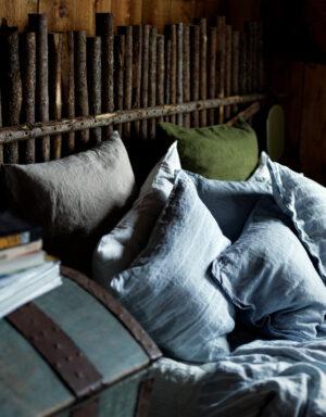Hochwertige Bettwäsche, blau-weiß von Lovely Linen