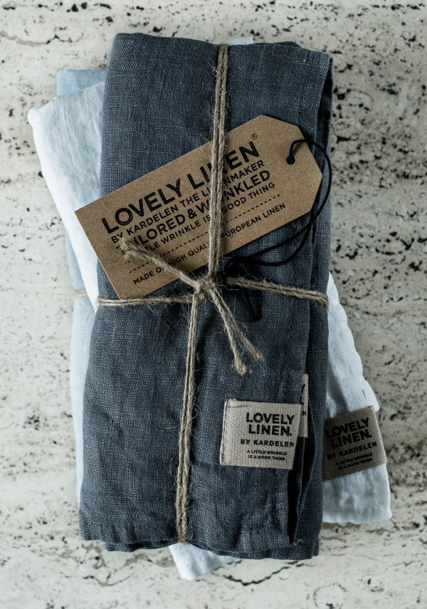 Exclusive Servietten aus Leinen von Lovely Linen- Misty