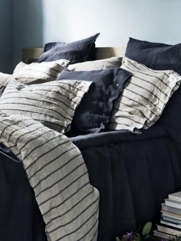 Bettwaesche 4 teilig mit Bettbezug-Stripe-Lovely-Linen