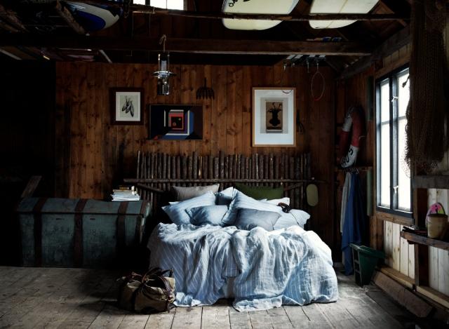 Bettwäsche mit Streifen blau-weiß Stripe Sky von Lovely Linen