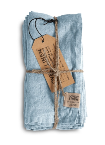 Exclusive Servietten aus Leinen von Lovely Linen- Misty sky