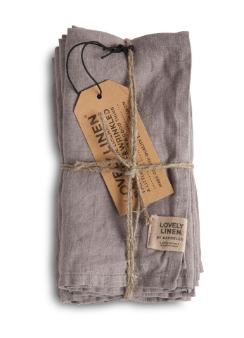 Exclusive Servietten aus Leinen von Lovely Linen- Misty grey
