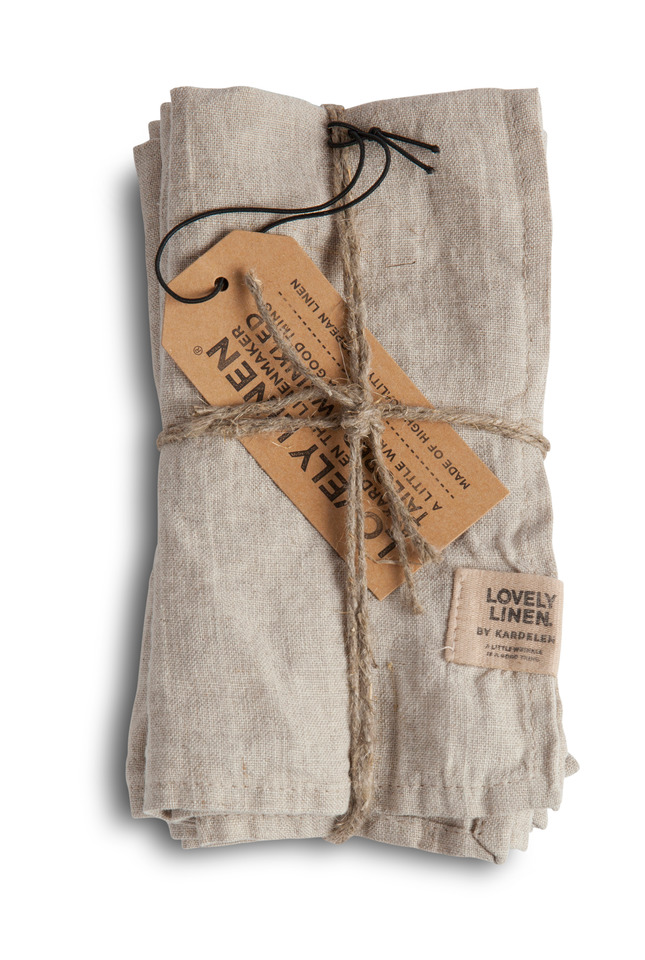 Exclusive Servietten aus Leinen von Lovely Linen- Misty meadow