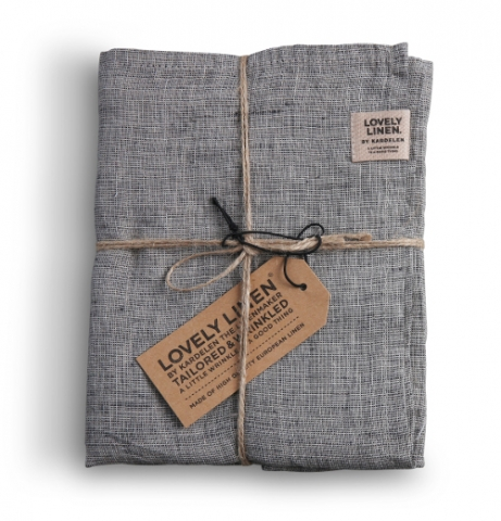 Stoffserviette Chambray black von Lovely Linen
