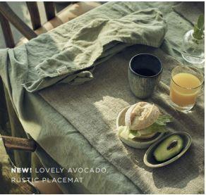 Tableclothes in Avocado - 2019 Lovely Linen