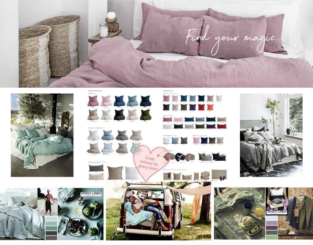 Bettwäsche, Tischdecken und Badetücher